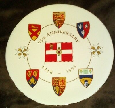 Priory for Wales (st Johns Ambulance) 75th anniversary plate 1918-93, ltd editio