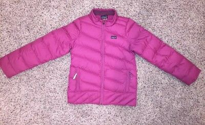 PATAGONIA Girls Size L (14) Full Zip Down Sweater Puffer Jacket Coat Outerwear
