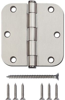 Decorative 12 Pack Satin Nickel Radius Interior Mortise Door Residential Hinge