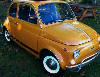 """1971 Fiat 500 Deluxe Fiat 500L """"Luxe"""" Microcar, Cute as a button and NO RESERVE!!!"""