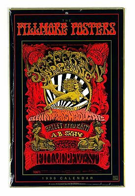 Bill Graham Fillmore Vintage Posters Calendar Book 1990 Sealed NEW