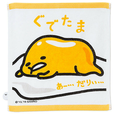 Sanrio Gudetama Hand Towel Cotton Handkerchief Japan 911038