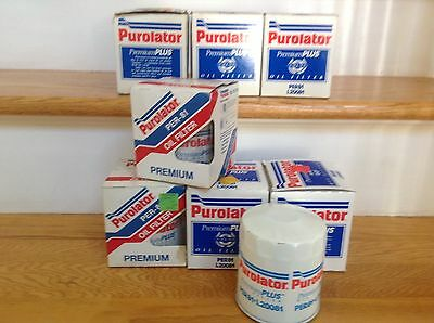 Lot of 7: Purolator PER81 Oil Filter Cross ref/ AC PF20, Motorcraft 173, & more