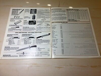 Original Puma Knife Gutmann USA Almanac with Guide to collecting chart 8 pages