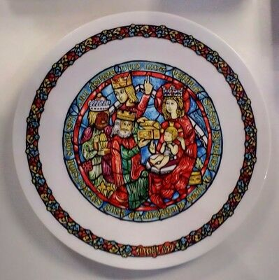 Limoges Decorative Plate 5th Issue No 744 The Adoration Of Kings excellent 1980