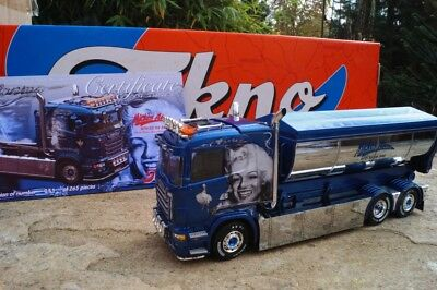"Tekno 65818  Scania RL Abrollmulden-LKW ""Mickes"" ( S )  scale  1:50"