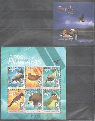 B272 Bhutan Birds Of The Himalayas 1Kb+1Bl Mnh