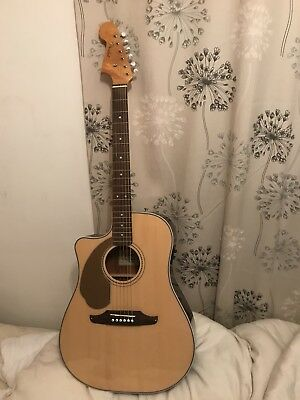 Left Handed Fender Sonoran Electro acoustic Guitar