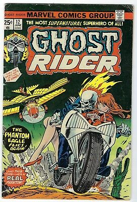 Nine GHOST RIDER comic books #12 through #20 (1975-76, Marvel) FREE SHIPPING!