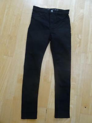 H&M girls black skinny fit super stretch jeans AGE 11-12 YEARS NEW BNWOT