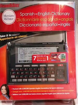 Franklin Merriam Webster Electronic Dictionary Thesaurus & Translator DBE-1500