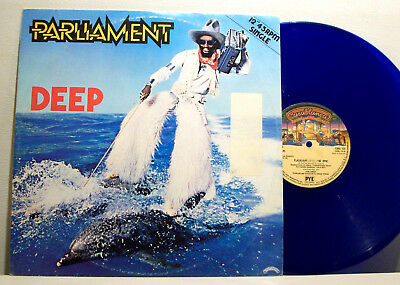 "PARLIAMENT - flashlight / deep 12"" P-FUNK breaks BLUE VINYL george clinton"