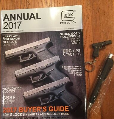GLOCK Swag Promotional Items Keychain Pen Annual Guide 2017