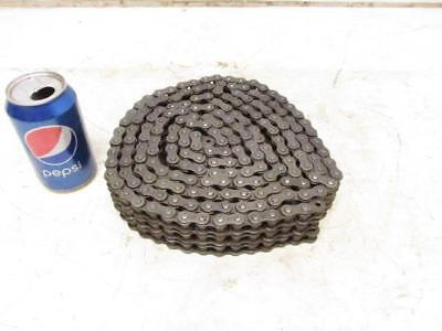 """TYC Roller Chain 3/8"""" Wide Roller 120"""" (10' Ft.) Long Triple 3 Row Riveted"""