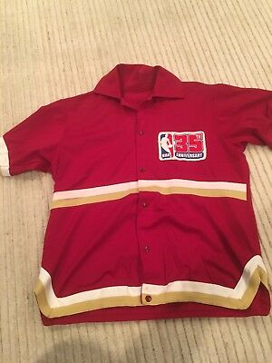 1980 Cleveland Cavaliers Campy Russell warm up NBA 35th Anniversary game worn