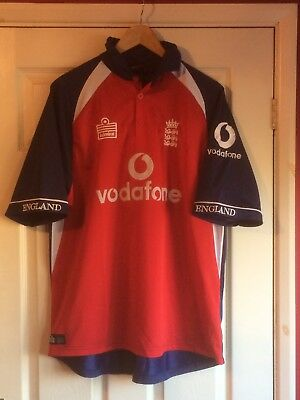 """ENGLAND MID 2000's ODI CRICKET SHIRT. SIZE LARGE.46"""" CHEST,ADMIRAL.ASHES WEAR"""