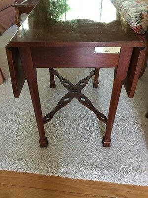 Baker Colonial Williamsburg Solid Mahogany Drop Leaf Table Very Rare!