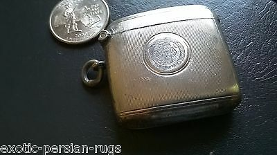 Beautiful Antique Sterling Silver Match Safe Vesta Case , England Chester 1903