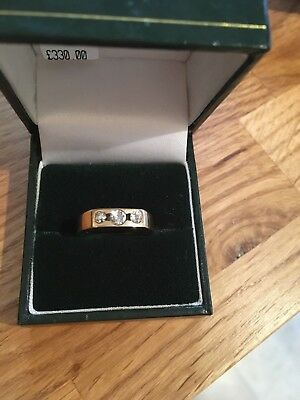 9ct gold trilogy diamond engagement ring size k