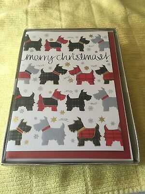"Scottie Dog Christmas Cards NEW (16) by Paper Magic ""Merry Christmas"""