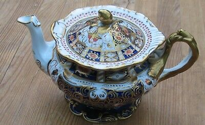 Antique Late Victorian Mintons China Teapot Crown Derby Imari Colours