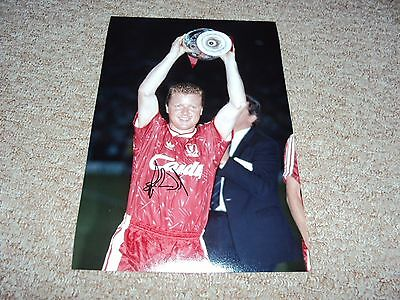 12x8 PHOTO HAND SIGNED STEVE NICOL LIVERPOOL SCOTLAND KOP ICON PRIVATE SIGNING