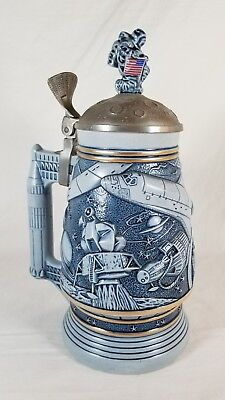 Avon Conquest Of Space Stein Mug 1991. Moon Landing, Space Shuttle, By Ceramarte
