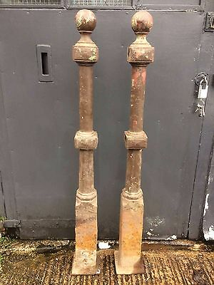 Cast Iron Bollards Pair very large and heavy 66 inches high REDUCED