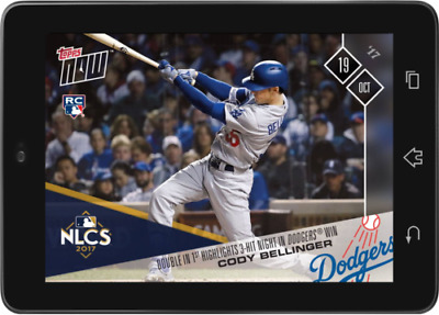 Topps BUNT Cody Bellinger Topps NOW October 19 2017 [DIGITAL CARD]