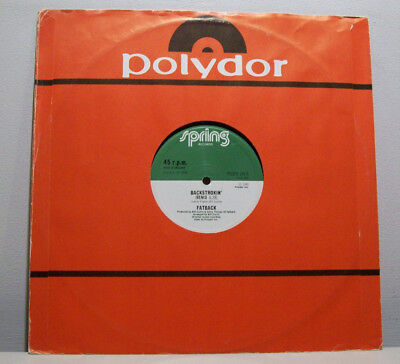 "FATBACK BAND - backstrokin' 12"" ELECTRO-BOOGIE '80s disco B-BOY BREAKS spring"