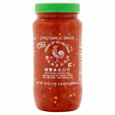 Huy Fong Vietnamese Style  Chili Garlic Sauce, 18 oz, Pack of Six Bottles