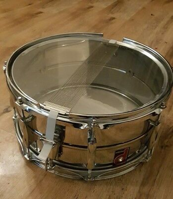 Premier Vintage 1026 6.5 x 14.5  Chrome Beaded Snare ...Unmarked No Rust