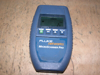 Fluke Networks MicroScanner Pro 10/100 Cable Tester. Part No: 2465438.