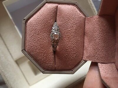 Emmy London 18ct White Gold 1/2 Carat Diamond Solitaire Engagement Ring