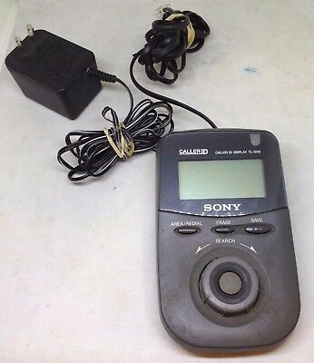 Vintage Sony TL-ID10 Caller ID Adapter W/ Power Cord, Phone Line Cord Original