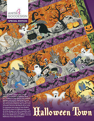 Anita Goodesign Embroidery Machine Design CD HALLOWEEN TOWN SPECIAL EDITION