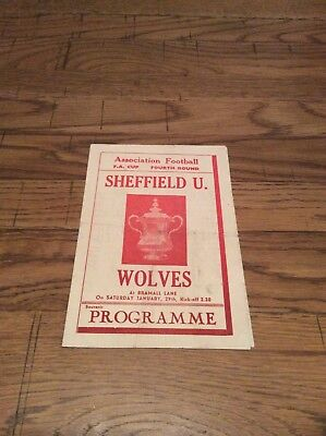 Sheffield Utd v Wolves FA Cup 1948/49 Pirate