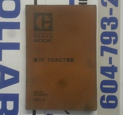 Caterpillar D7F Tractor Parts Manual. S/N: 93N1-Up