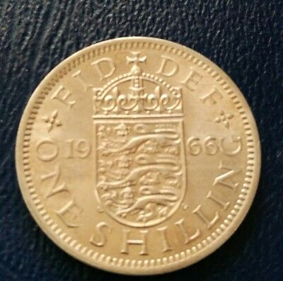 1966 GB QEII WORLD CUP YEAR English Arms One Shilling 1/- old BOB