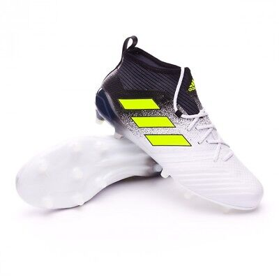 aed782016d5 Adidas ACE 17.1 FG Junior Soccer Cleats White black S77039 Last Size 3.5