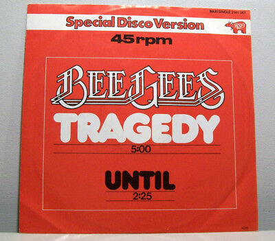 """BEE GEES - tragedy / until 12"""" DISCO version GERMAN MAXI sleeve 1979 RSO"""