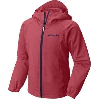 Columbia Boys' SplashFlash Hooded Softshell Jacket Sunset, Red, Size:LYouth  #D