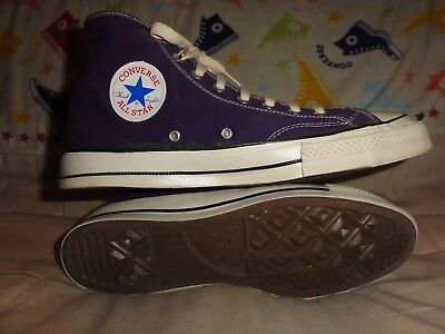 Vintage Converse Navy Blue High Tops Made In Usa Size 11.5 Black Tags 1970