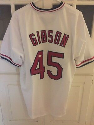 Bob Gibson Autographed Jersey JSA Authenticated Xl