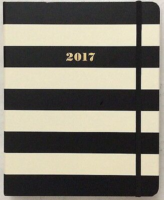 NWT Kate Spade Set The Stage 17 Month Large Agenda Book Black Stripe