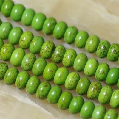 5x8mm Green Abacus Turquoise Gemstone Loose Beads 15inch##QF3019
