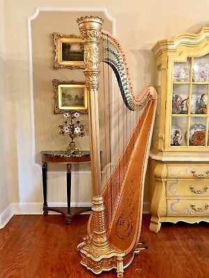 Lyon and Healy Style 23 Concert Grand Pedal Harp
