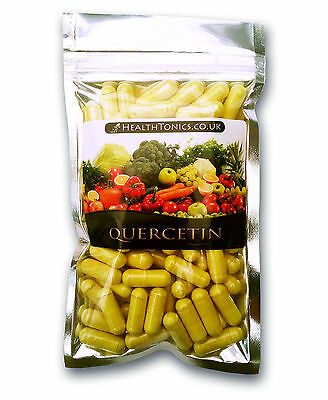 Quercetin 200mg, 30-90 Vegetarian Capsules, No Fillers, Allergy Relief