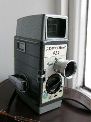 Bell And Howell 626  Cine Camera 8 Mm Leather Case, Freepost Uk