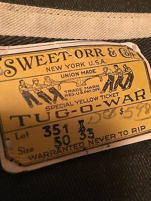 Sweet Orr & Co. Pants.NOS 50x33